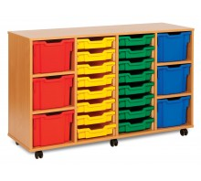 22 Variety Tray Shelf Storage Unit