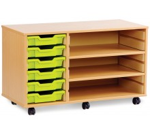 6 Slot Tray & Shelf Storage Unit