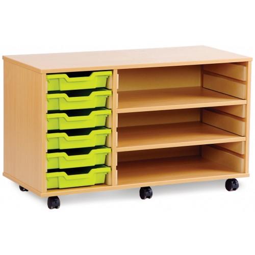 6 Slot Tray & Shelf Storage Unit