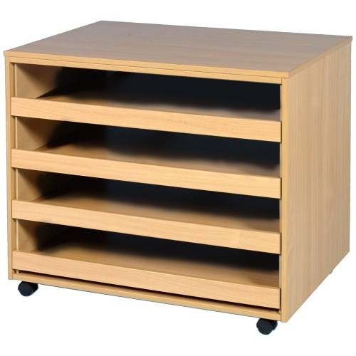 4 Open Drawer Plan Chest