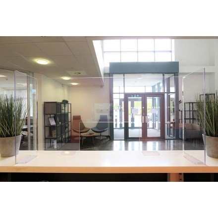 One Piece Acrylic Protection Screens - 1000mm High