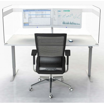 Workstation Hinged Acrylic Protection Screens