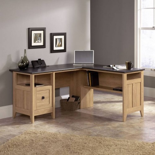 Home Study L-Shaped Desk