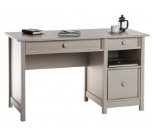 Single Pedestal Computer Desk - Cobblestone