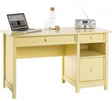 Single Pedestal Computer Desk - Cobblestone