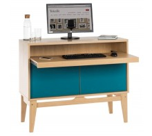 Contemporary Computer Hideaway Workstation