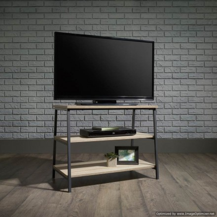 Industrial Style TV Stand / Trestle Shelf