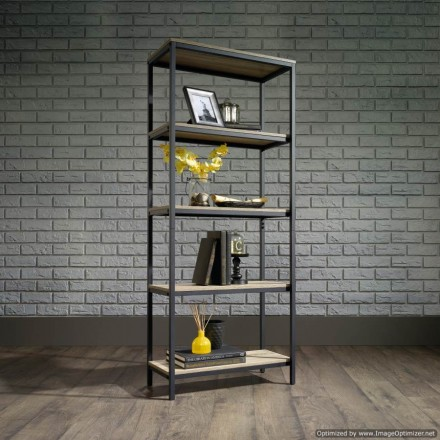 Industrial Style 4 Shelf Bookcase