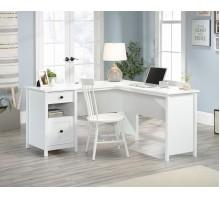 Home Study L-Shaped Desk - White