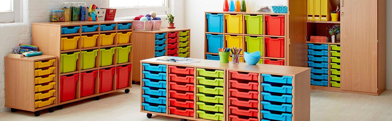 School Storage Units and Trolleys